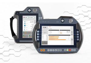 Die Benutzeroberfläche der Mobile Panel 7100 von B&R besteht aus einer Kombination aus integriertem Touch-Screen und Funktionstasten; Bild: B&R