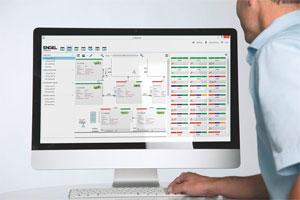 """Das MES """"e-factory"""" ermöglicht es, jederzeit Prozess- und Zustandsdaten zu überwachen und den zur Verfügung stehenden Maschinenpark bestmöglich zu nutzen (© Engel)"""