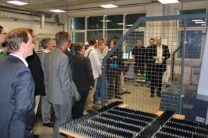 Hier im Bild das vorangegangene Treffen der Plattform Automatisierungstechnik beim Unternehmen Rittal; Bild: Malisa V.